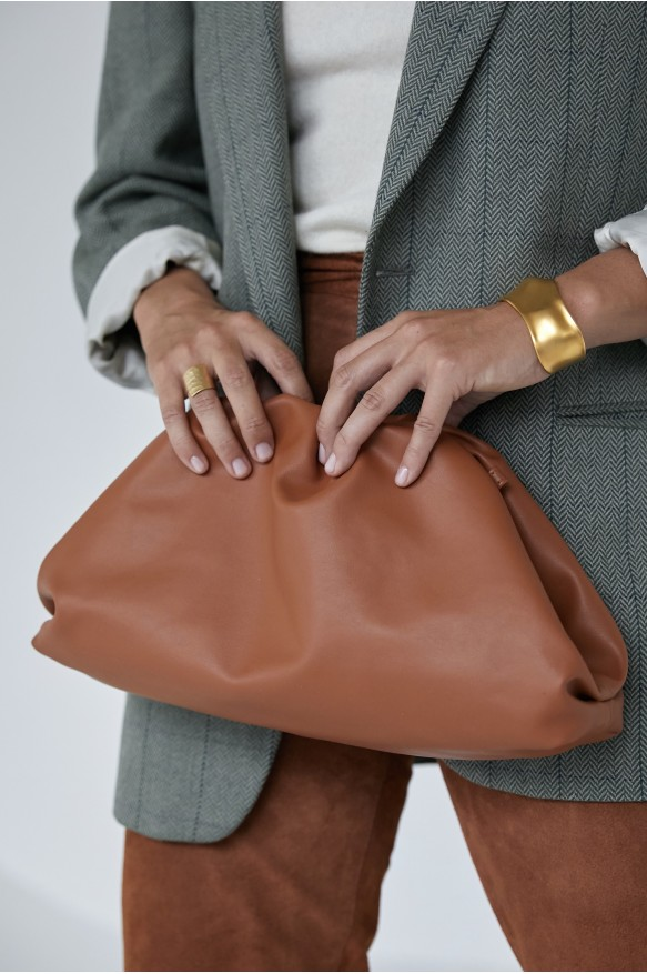 Клатч Pouch vegan leather terracotta