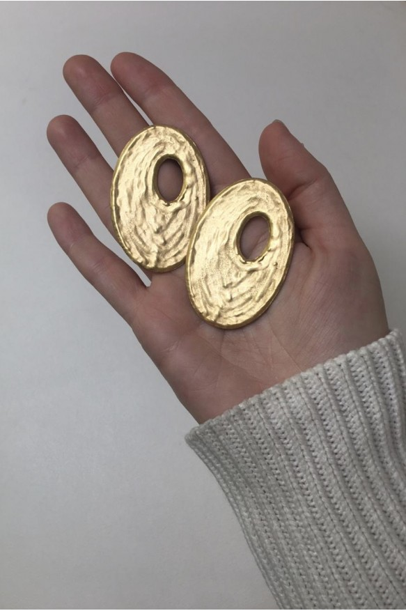 Серьги Oval Moon — Milano Collection gold